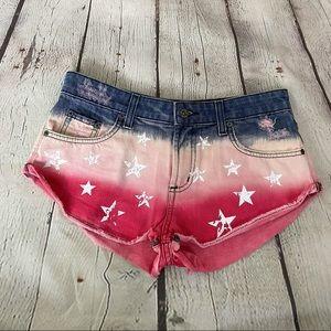 LF Carmar American Flag Jean Shorts Size 28